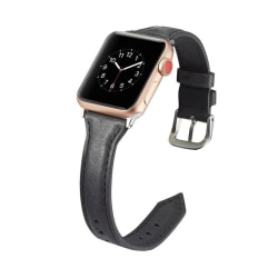 Apple Watch Smalt läderarmband 38/40mm - fler färger Svart