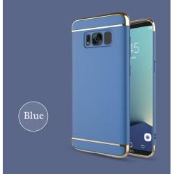Design skal 3 i 1 guldkant till Samsung Galaxy S8 - fler färger Blå