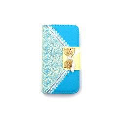 Flower Wallet Plånboksfodral Samsung S6 Edge - fler färger Blå