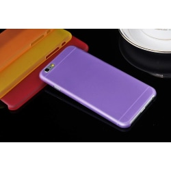 Frostad Transparent Silikon Skal till iPhone 6/6S - fler färger Lila