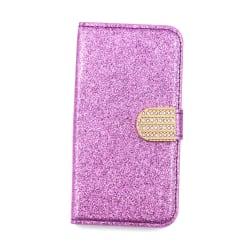 Glitter design Plånboksfodral till iPhone 6/6S - fler färger Lila