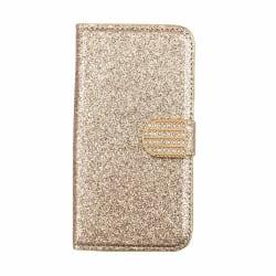 Glitter design Plånboksfodral till iPhone 7/8 - fler färger Guld