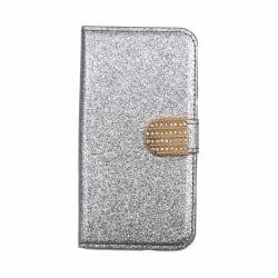 Glitter design Plånboksfodral till iPhone 7/8 PLUS - fler färger Silver