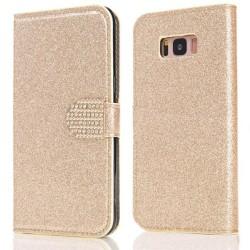 Glitter design Plånboksfodral till Samsung S8 - fler färger Guld