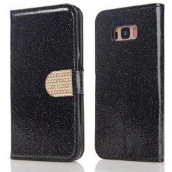 Glitter design Plånboksfodral till Samsung S8 - fler färger Svart