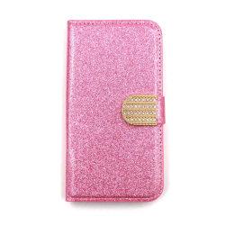 Glitter design Plånboksfodral till Samsung S9 PLUS - fler färger Rosa