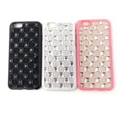 Glittrigt silikonskal med Gel Diamanter iPhone 6/6S - fler färge Vit