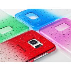 Gradient skal till Samsung S6 med vattendroppar - fler färger Röd