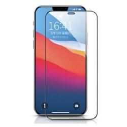 Heltäckande Härdat Glas till iPhone 12 Pro Max Svart