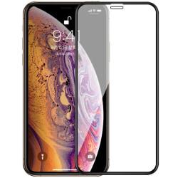 Heltäckande Härdat Glas till iPhone XS Max - Svart - fler färger Svart