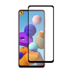 Heltäckande Härdat Glas till Samsung Galaxy A21s - Svart - fler  Svart