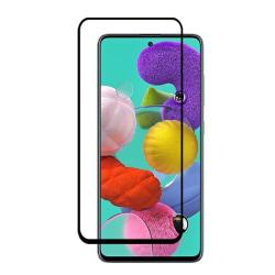 Heltäckande Härdat Glas till Samsung Galaxy A71 - Svart - fler f Svart