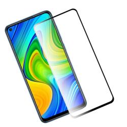 Heltäckande Härdat Glas till Xiaomi Redmi Note 9 - Svart - fler  Svart