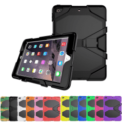 iPad Mini 4 Extra Stöttåligt Armor Shockproof Skal - fler färger Svart