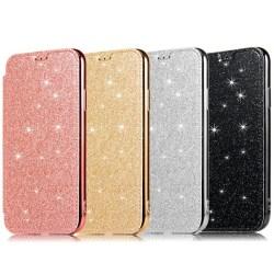iPhone 11 Plånboksfodral TPU Ultraslim Glitter - fler färger Svart