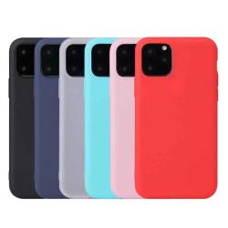 iPhone 11 Ultratunn Silikonskal - fler färger Röd