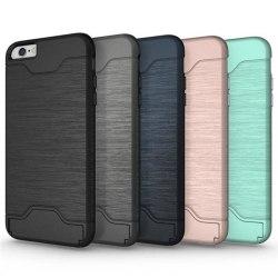 iPhone 6/6S | Armor skal | Korthållare - fler färger Blå