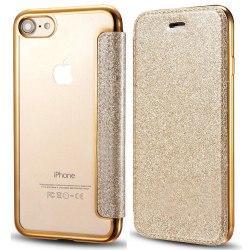 iPhone 7/8 Plånboksfodral TPU Ultraslim Glitter - fler färger Guld