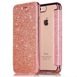 iPhone 7/8 Plånboksfodral TPU Ultraslim Glitter - fler färger Rosa