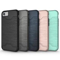 iPhone 8 | Armor skal | Korthållare - fler färger Svart