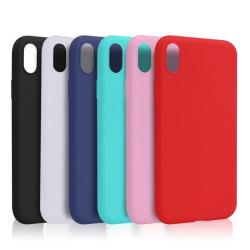 iPhone X/XS Ultratunn Silikonskal - fler färger Svart