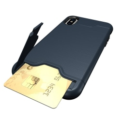 iPhone XR   Armor skal   Korthållare - fler färger Blå