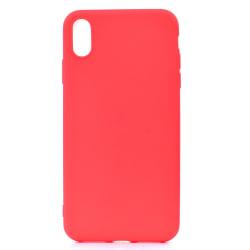 iPhone XS Max Ultratunn Silikonskal - fler färger Röd