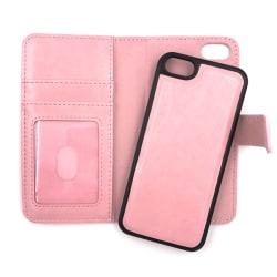 """Magnetskal/plånbok """"2 i 1"""" iPhone 5/5S/SE(1a generationen) - fle Rosa"""