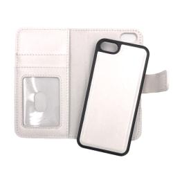 """Magnetskal/plånbok """"2 i 1"""" iPhone 5/5S/SE(1a generationen) - fle Vit"""