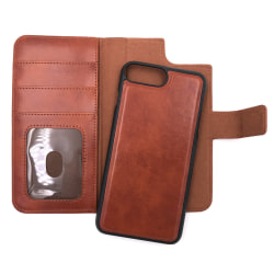 """Magnetskal/plånbok """"2 i 1"""" iPhone 8 PLUS - fler färger Brun"""