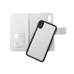 """Magnetskal/plånbok """"2 i 1"""" iPhone X/XS - fler färger Vit"""