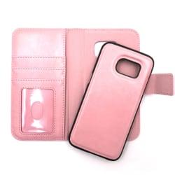 """Magnetskal/plånbok """"2 i 1"""" Samsung S7 - fler färger Rosa"""