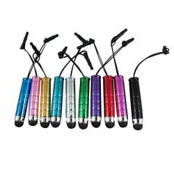 Mini Styluspenna / Touchpenna till mobil och surfplatta - fler f Svart