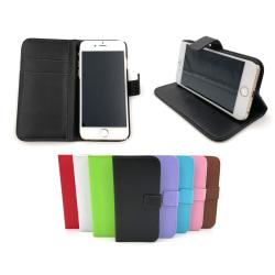 Plånboksfodral 2 fack iPhone 6/6S PLUS - fler färger Svart