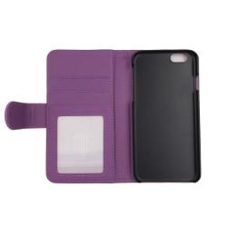 Plånboksfodral 4 fack iPhone 6/6S - fler färger Lila
