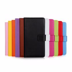 Plånboksfodral Äkta Skinn Huawei Honor 8 - fler färger Svart