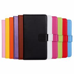 Plånboksfodral Äkta Skinn Moto G5 Plus - fler färger Vit