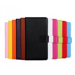 Plånboksfodral Äkta Skinn Samsung A40 - fler färger Ljusrosa