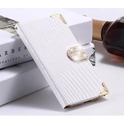 Plånboksfodral Croco Bling Samsung S5 - Flera färger Vit