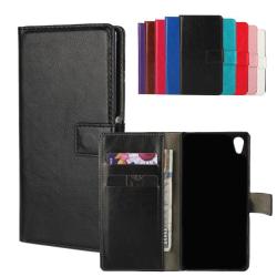 Plånboksfodral i PU-Läder till Sony Z3+ - fler färger Svart