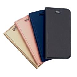 Plånboksfodral Ultratunn design Moto G6 Plus - fler färger Mörkgrå