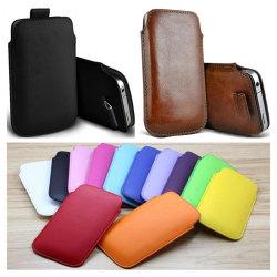 Pull tab / Läderficka - Passar iPhone 5/5S/5C/SE - fler färger Svart