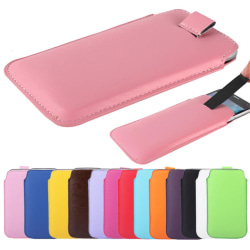 Pull tab / Läderficka Samsung S5 - fler färger Vit