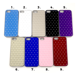 Quiltat skal med diamanter iPhone 5/5S/SE(1a generationen) - fle Svart