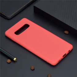 Samsung S10 PLUS Ultratunn Silikonskal - fler färger Röd