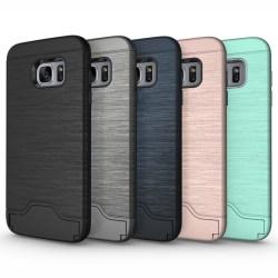Samsung S7 | Armor skal | Korthållare - fler färger Blå