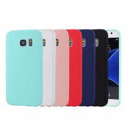 Samsung S7 Ultratunn Silikonskal - fler färger Svart