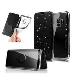 Samsung S9 Plånboksfodral TPU Ultraslim Glitter - fler färger Svart