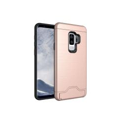 Samsung S9 PLUS | Armor skal | Korthållare - fler färger Rosa