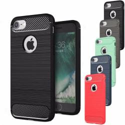 Stöttåligt Armor Carbon TPU-skal iPhone 8 - fler färger Svart